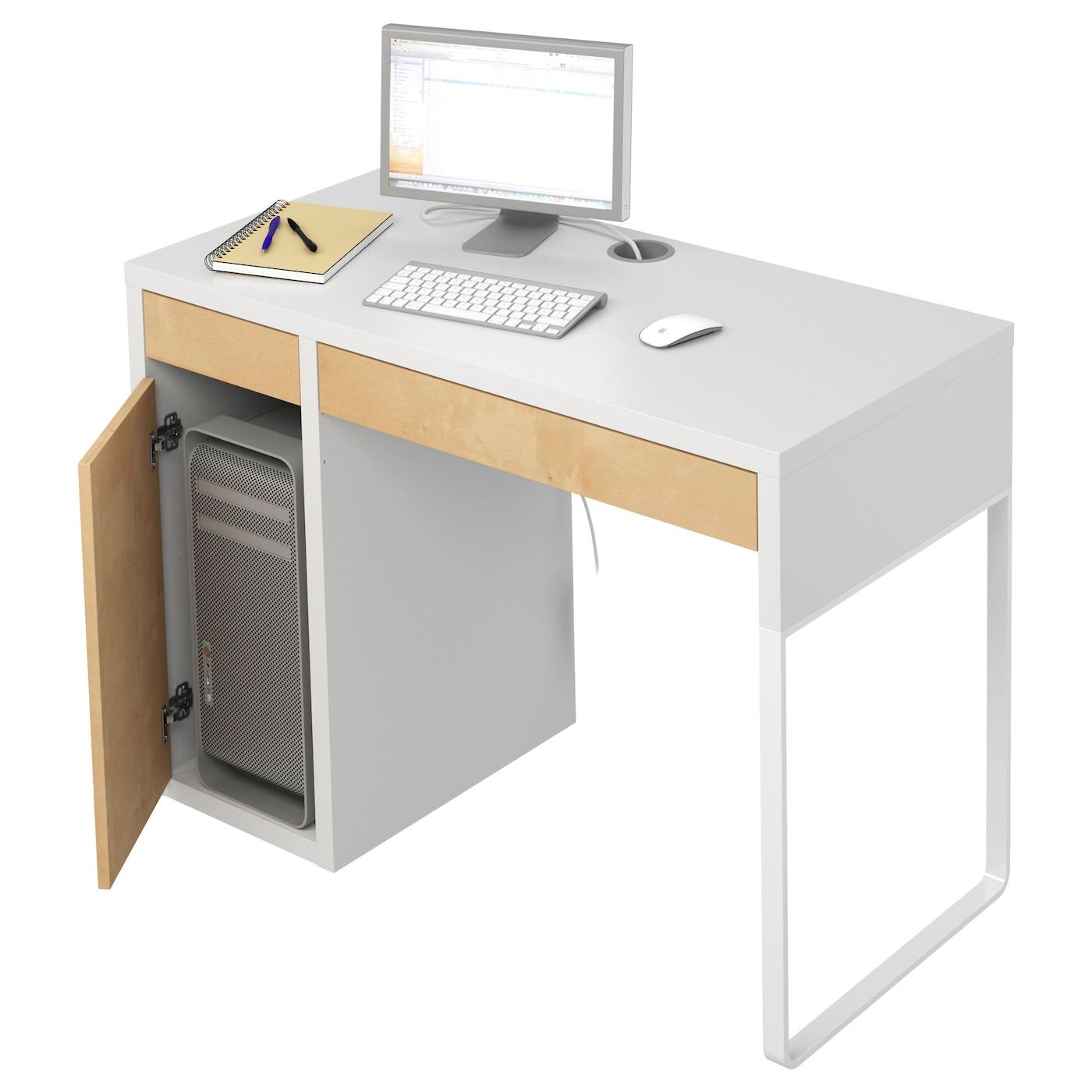 micke bureau wit berkenpatroon 105x50 cm ikea. Black Bedroom Furniture Sets. Home Design Ideas