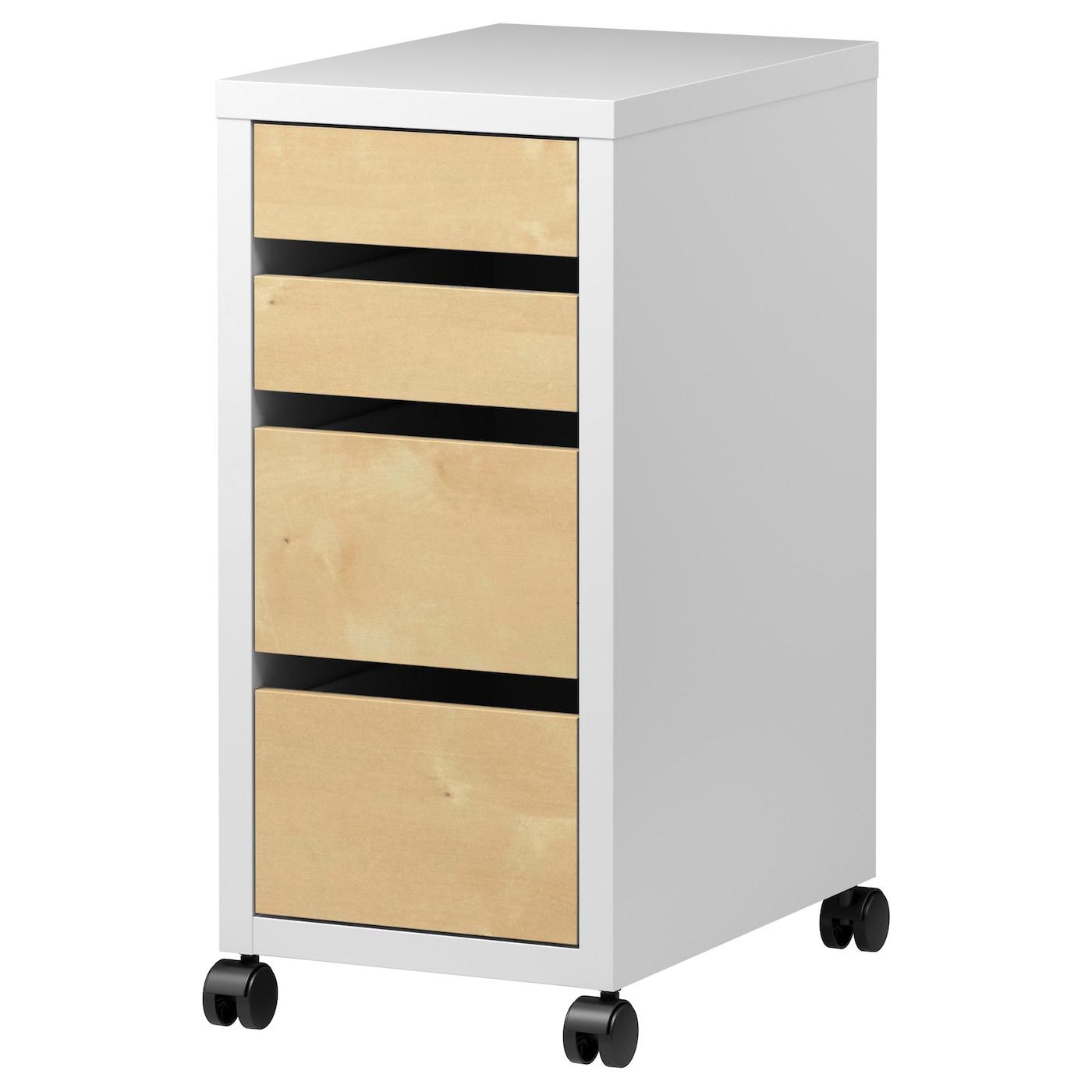 micke ladeblok op wielen wit berkenpatroon 35 x 75 cm ikea. Black Bedroom Furniture Sets. Home Design Ideas