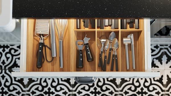 MITTLED Led-strip voor keukenla met sensor, dimbaar wit, 56 cm