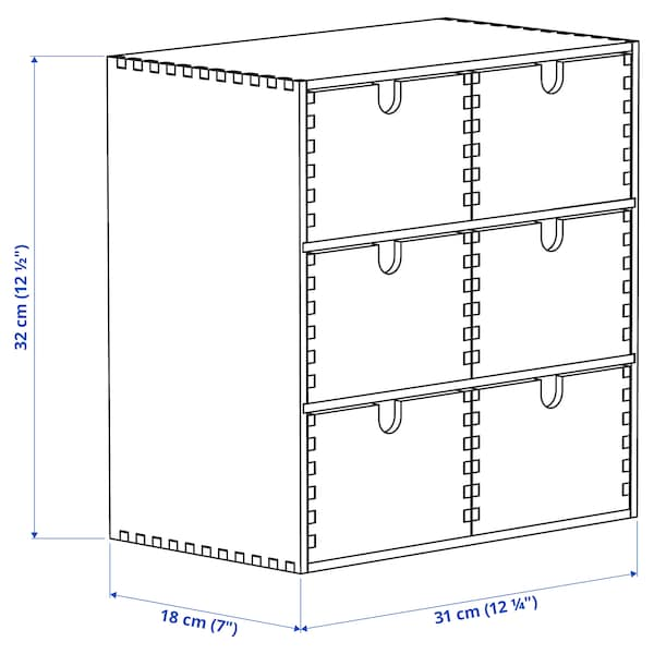 MOPPE Miniladekast, berkentriplex, 31x18x32 cm