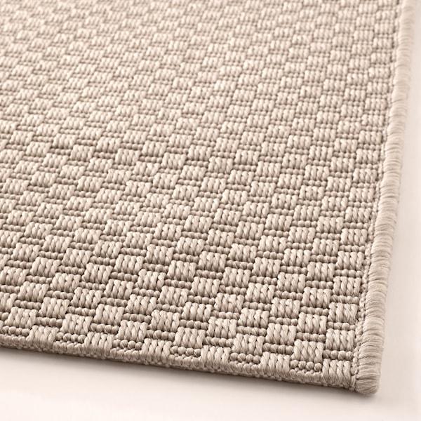 MORUM Vloerkleed glad geweven, bin/buit, beige, 200x300 cm
