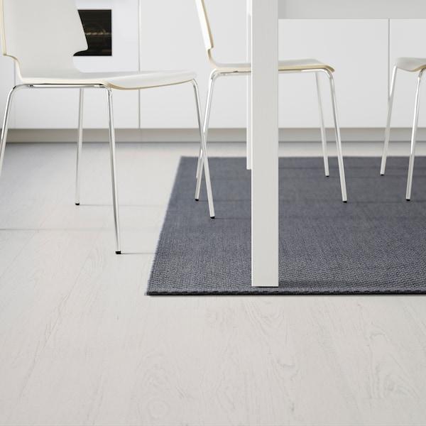 MORUM Vloerkleed glad geweven, bin/buit, donkergrijs, 200x300 cm