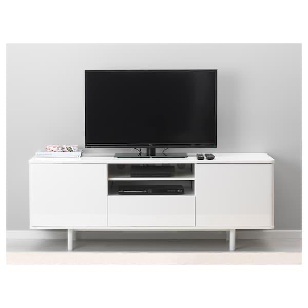 Witte Tv Kast Ikea.Mostorp Tv Meubel Wit Hoogglans Wit Ikea