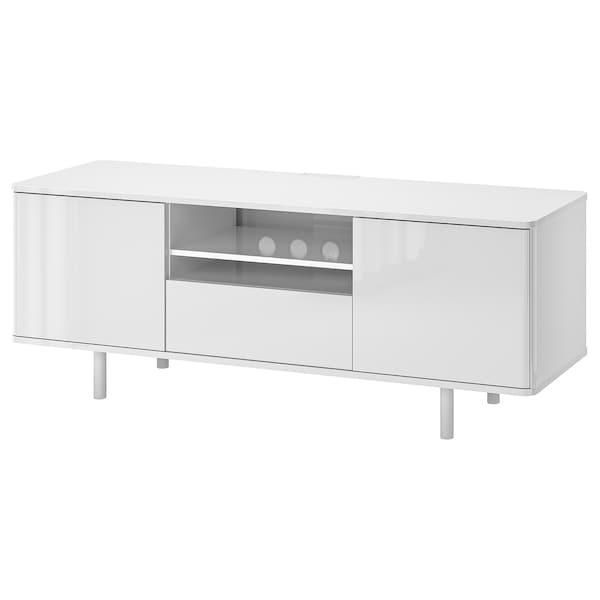 Tv Meubel Wit Ikea.Mostorp Tv Meubel Wit Hoogglans Wit Ikea