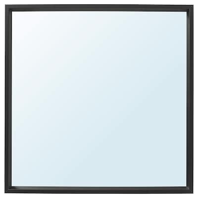 NISSEDAL Spiegel, zwart, 65x65 cm