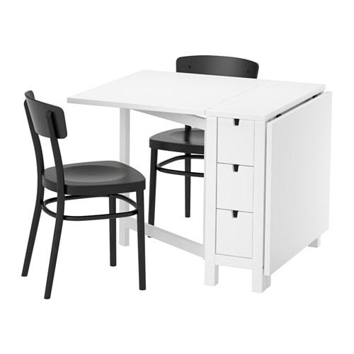 Norden idolf tafel met 2 stoelen ikea - Decoratie tafel eetkamer ...