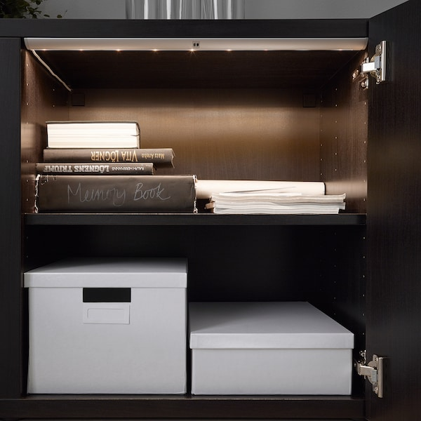 NORRFLY Led-strip, aluminiumkleur, 55 cm