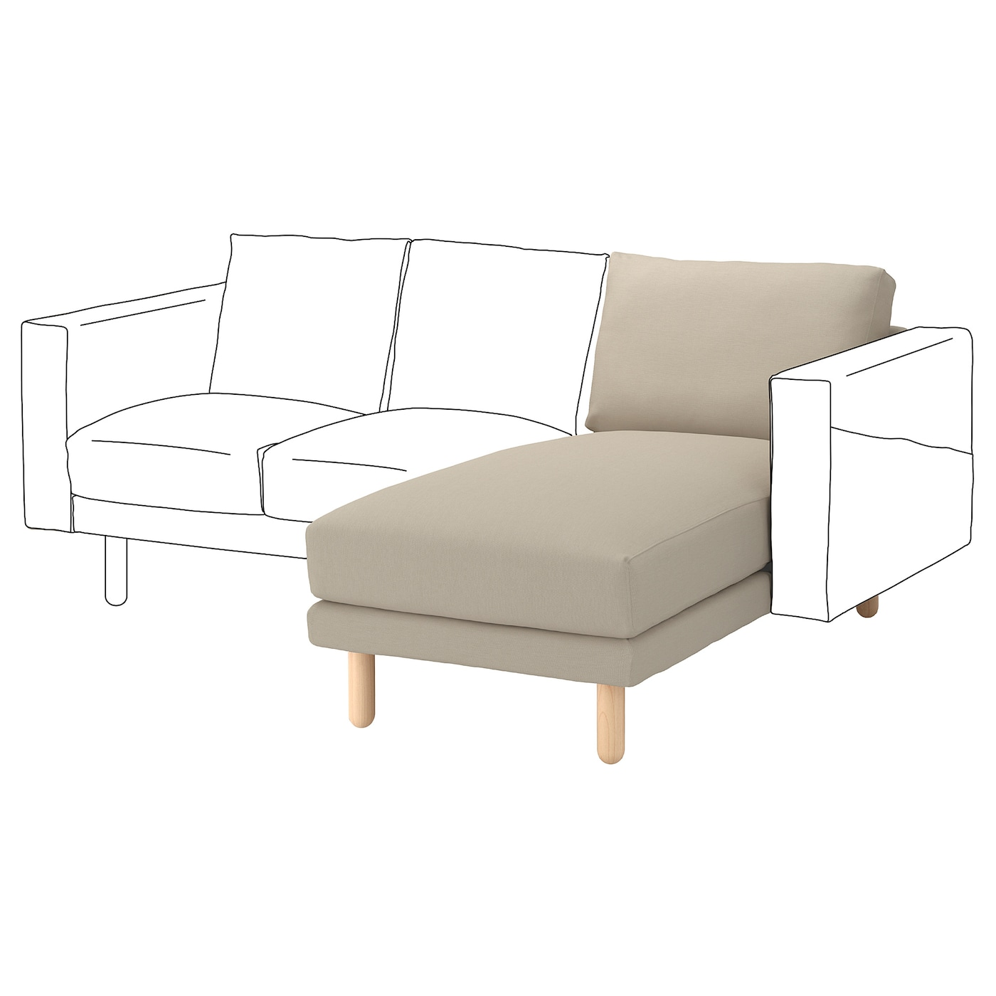 IKEA NORSBORG chaise longue element