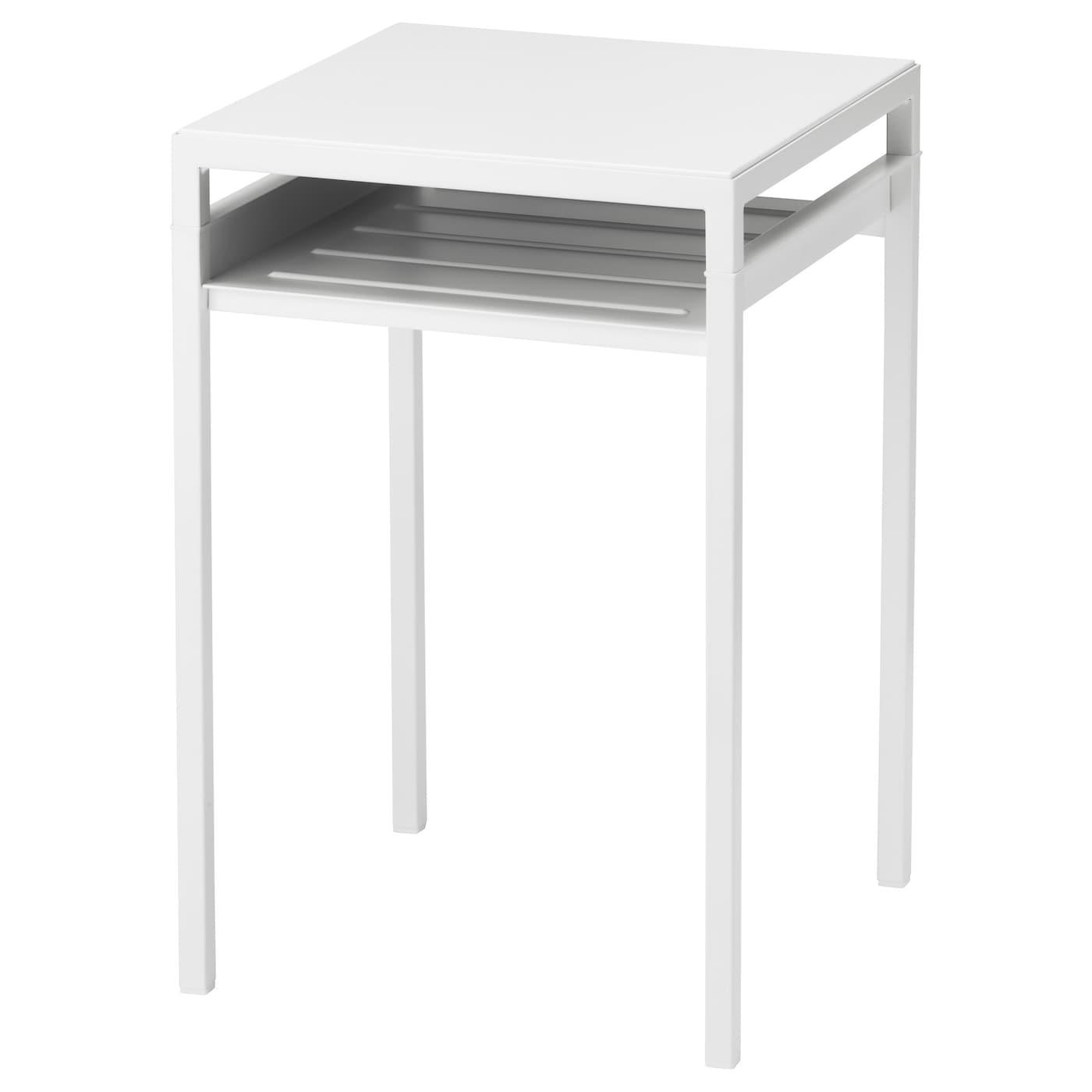 Nyboda bijtafel met keerbaar tafelblad wit grijs 40x40x60 for Beistelltisch 80 cm hoch