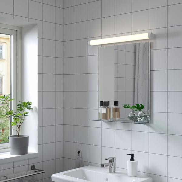 NYSJÖN Spiegel met plank, wit, 50x60 cm