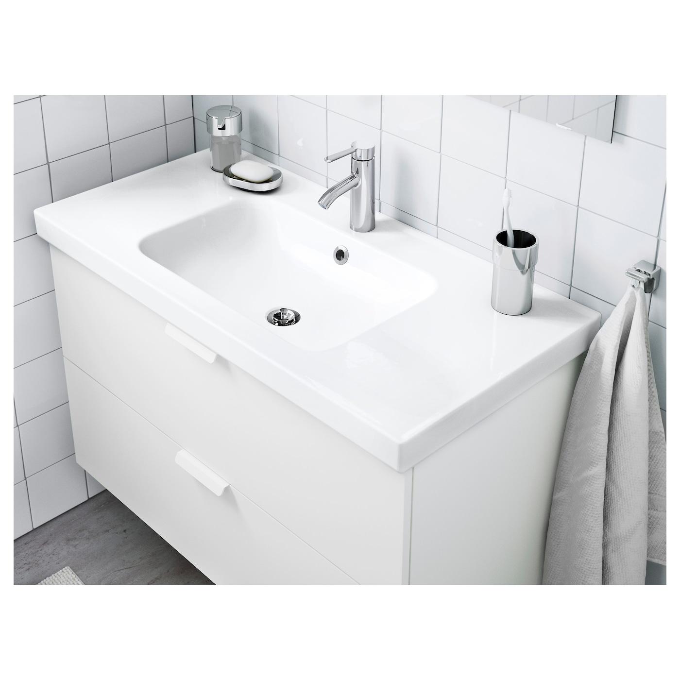 Odensvik wastafel 1 bak 103x49x6 cm ikea for Ikea lavabo