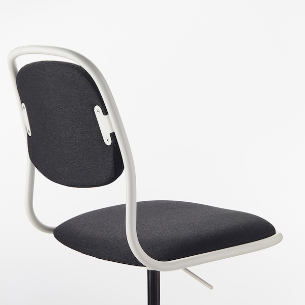 Bureaustoel Vaste Poten.Orfjall Bureaustoel Wit Vissle Donkergrijs Ikea