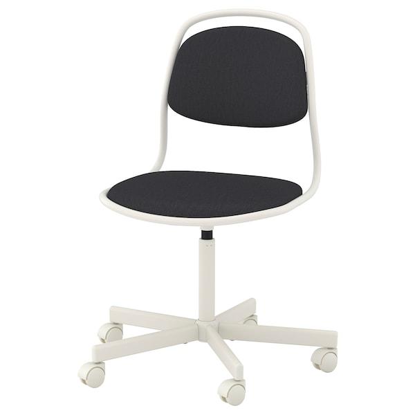 Ikea Bureaustoel Kind Wit.Bureaustoel Orfjall Wit Vissle Donkergrijs