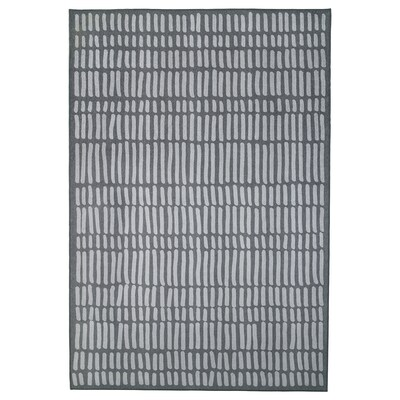 OMTÄNKSAM Vloerkleed, glad geweven, grijs, 133x195 cm