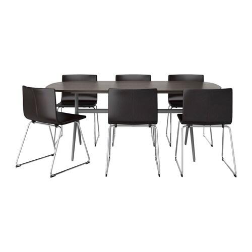 OPPEBY/OPPMANNA / BERNHARD Tafel met 6 stoelen - IKEA