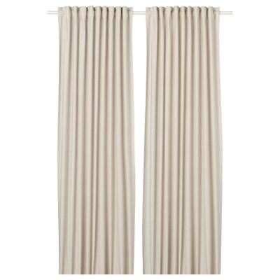 ORDENSFLY Gordijnen, 1 paar, wit/beige, 145x300 cm