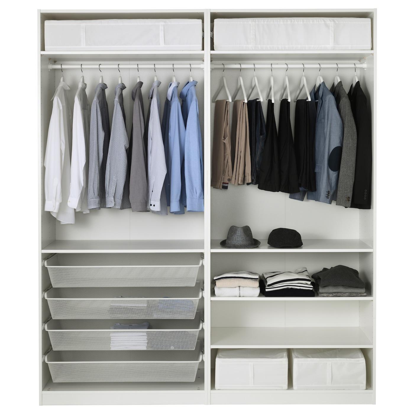 pax kledingkast wit bergsfjord wit 200x66x236 cm ikea. Black Bedroom Furniture Sets. Home Design Ideas