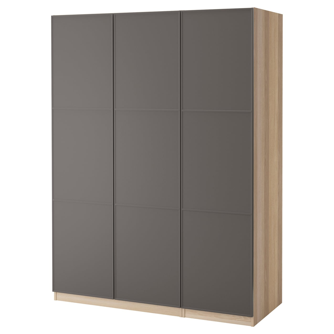 pax kledingkast wit gelazuurd eiken mer ker donkergrijs 150x60x201 cm ikea. Black Bedroom Furniture Sets. Home Design Ideas