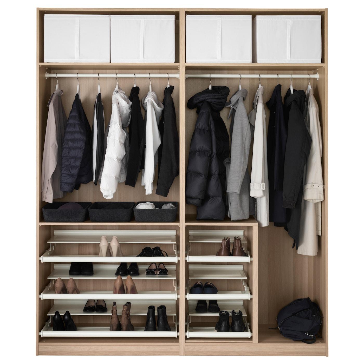 pax kledingkast wit gelazuurd eikeneffect auli spiegelglas 200x66x236 cm ikea. Black Bedroom Furniture Sets. Home Design Ideas