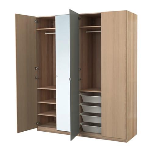 pax kledingkast wit gelazuurd eikeneffect nexus vikedal 200 x 60 x 236 cm ikea. Black Bedroom Furniture Sets. Home Design Ideas