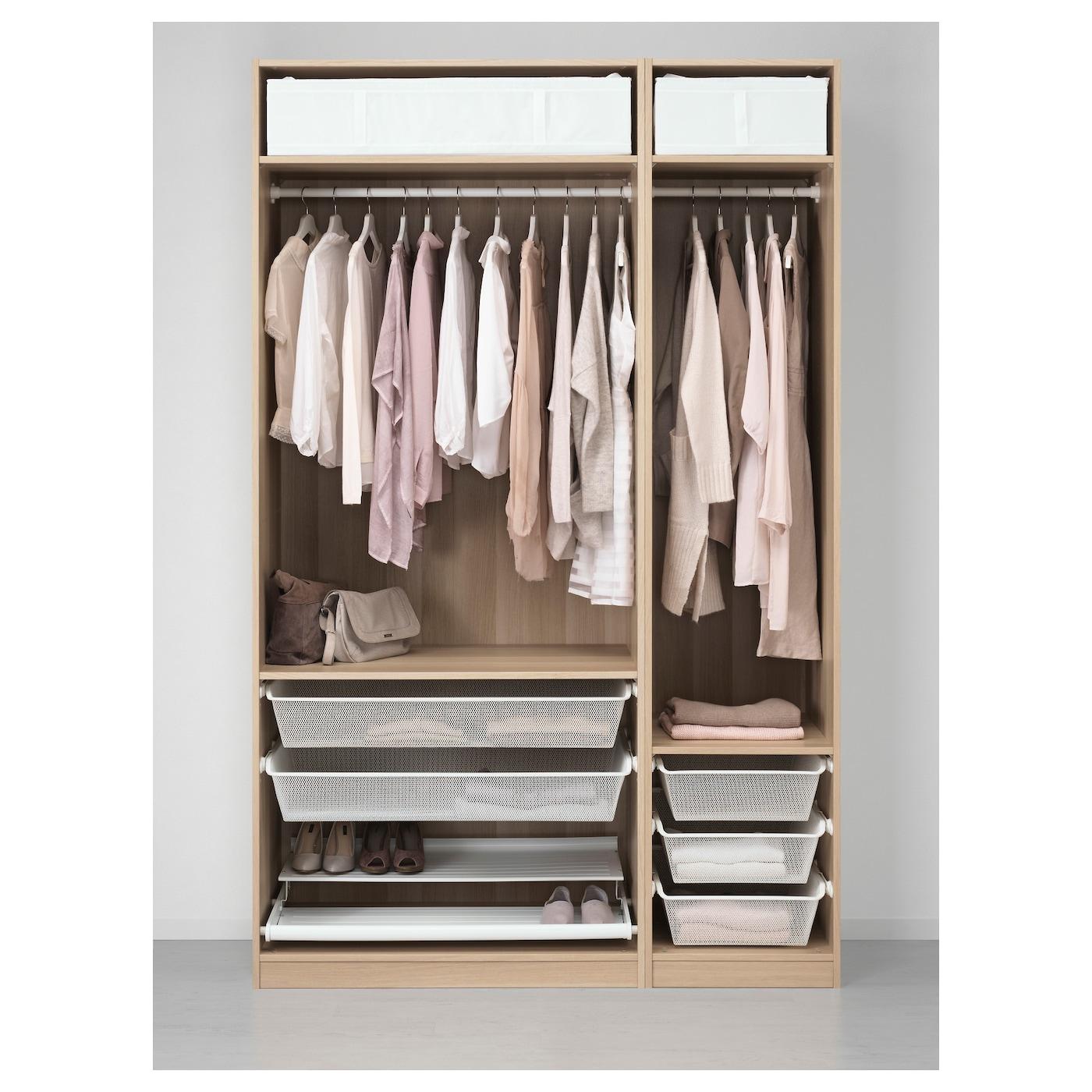 pax kledingkast wit gelazuurd eikeneffect 150x58x236 cm ikea. Black Bedroom Furniture Sets. Home Design Ideas