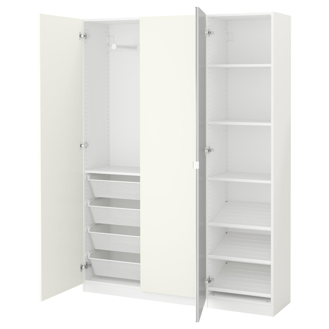 pax kledingkast wit tanem vikedal 150x38x201 cm ikea. Black Bedroom Furniture Sets. Home Design Ideas