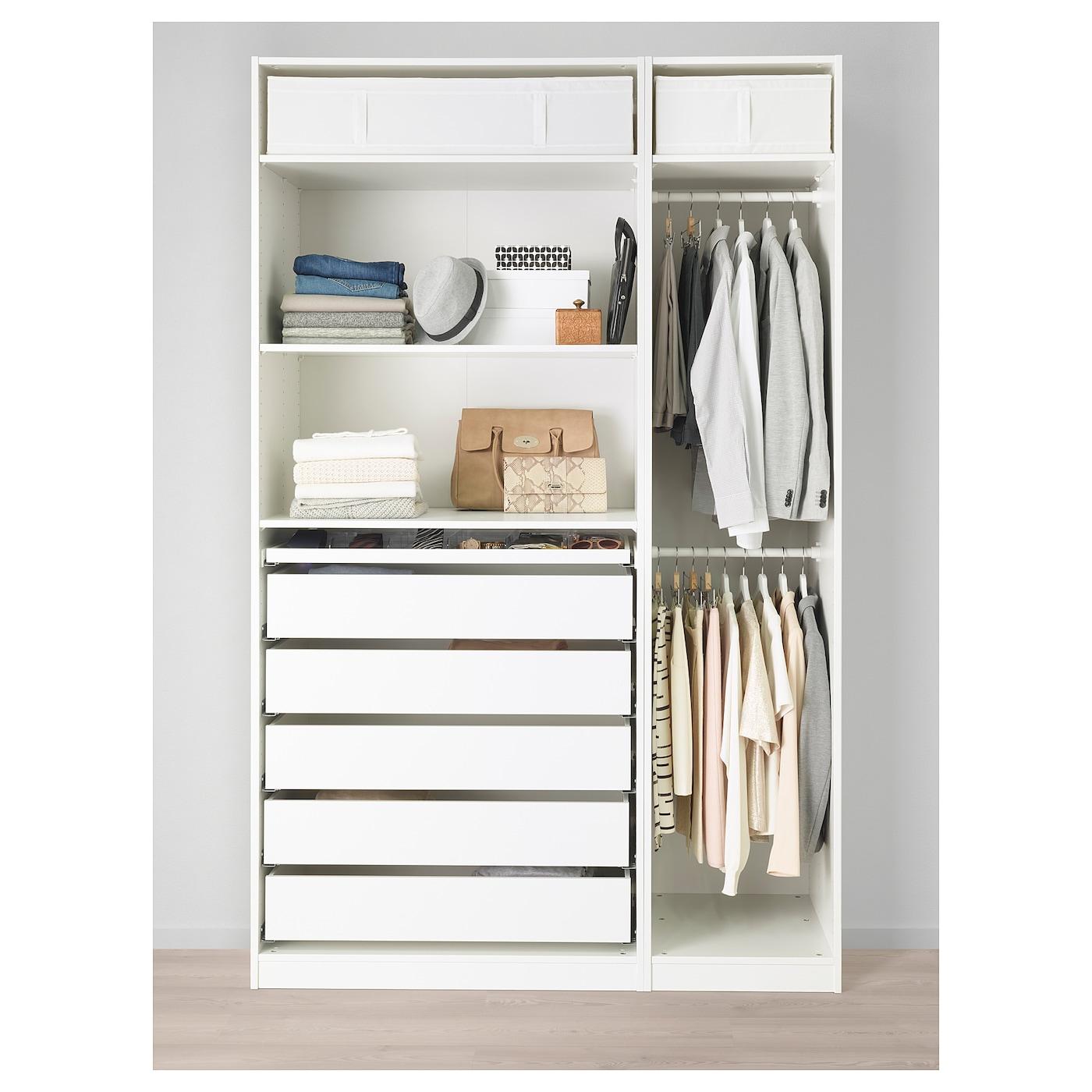 pax kledingkast wit 150 x 58 x 236 cm ikea. Black Bedroom Furniture Sets. Home Design Ideas