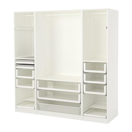 pax kledingkast wit 200 x 58 x 201 cm ikea. Black Bedroom Furniture Sets. Home Design Ideas