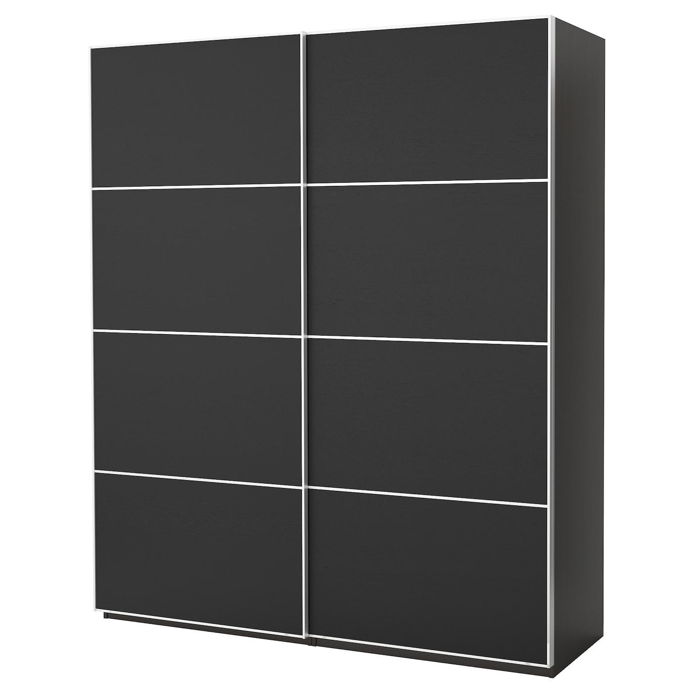 pax kledingkast zwartbruin ilseng zwartbruin 200x66x236 cm ikea. Black Bedroom Furniture Sets. Home Design Ideas