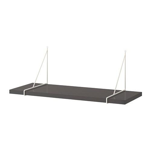 Wandplank 30 Cm.Pershult Bergshult Wandplank Donkergrijs Wit 80 X 30 Cm Ikea