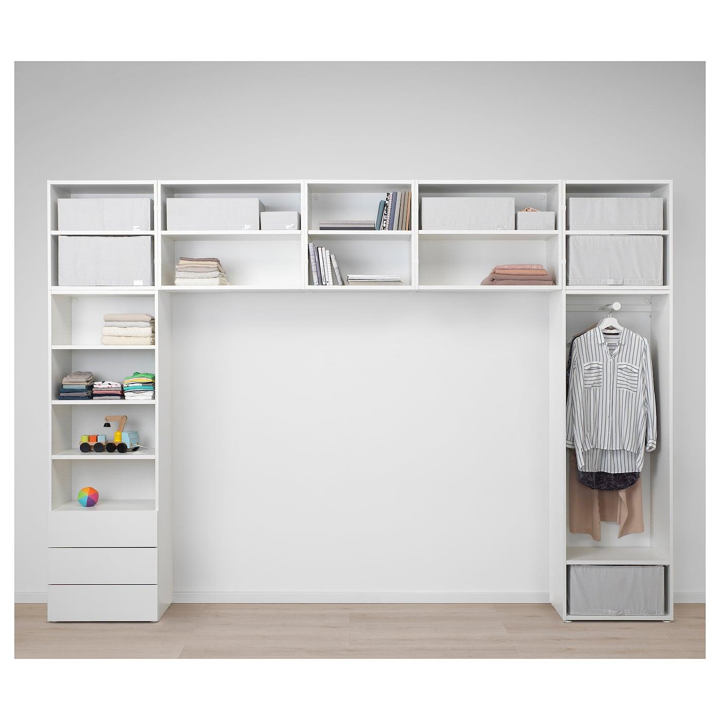 platsa kledingkast wit fonnes sannidal 340 x 42 x 241 cm ikea. Black Bedroom Furniture Sets. Home Design Ideas