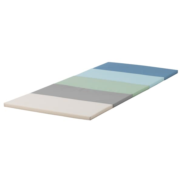 PLUFSIG Gymnastiekmat, opvouwbaar, blauw, 78x185 cm