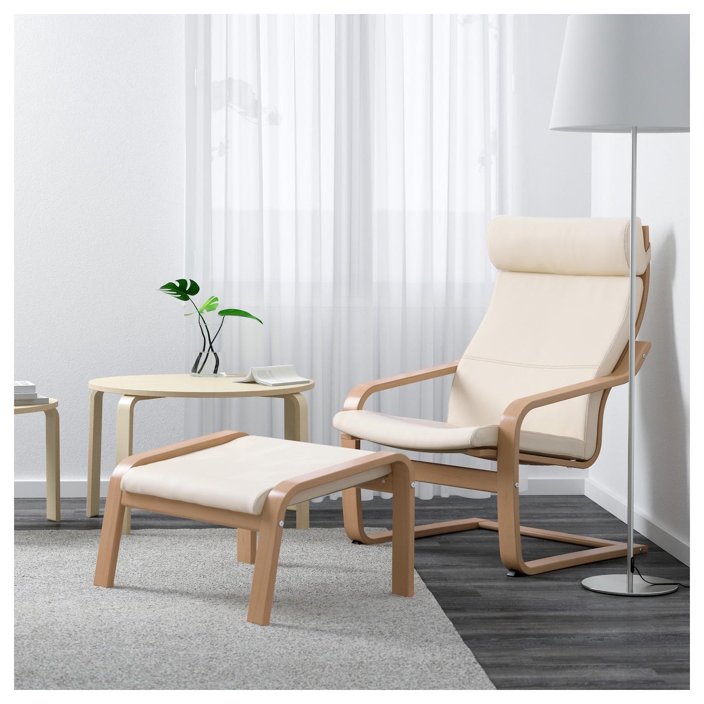 po ng fauteuil beukenfineer glose ecru ikea. Black Bedroom Furniture Sets. Home Design Ideas