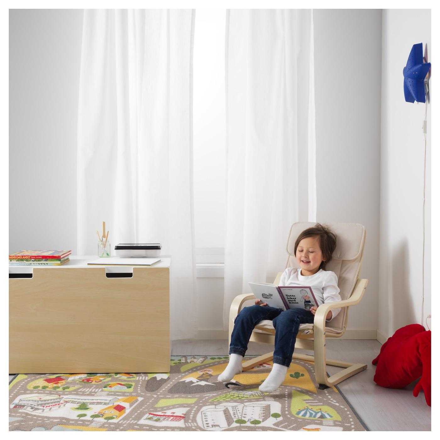 po ng kinderfauteuil berkenfineer alm s naturel ikea. Black Bedroom Furniture Sets. Home Design Ideas