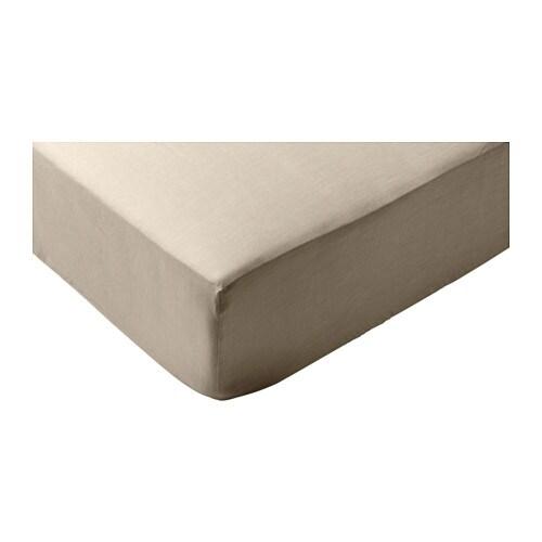 puderviva hoeslaken naturel 160 x 200 cm ikea. Black Bedroom Furniture Sets. Home Design Ideas
