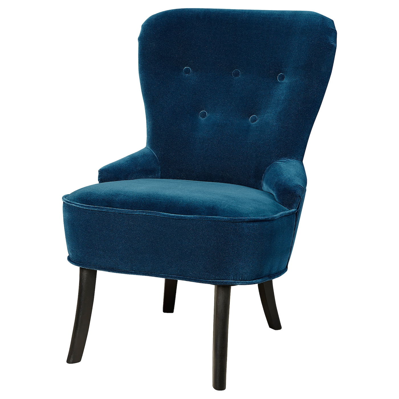 IKEA REMSTA fauteuil Fluweel dat geweven is van viscose en polyester is slijtvast.