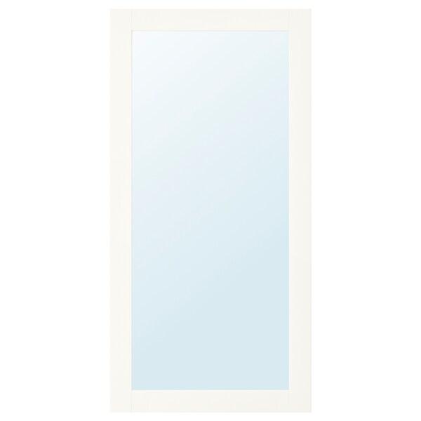 RIDABU Spiegeldeur, wit, 60x120 cm