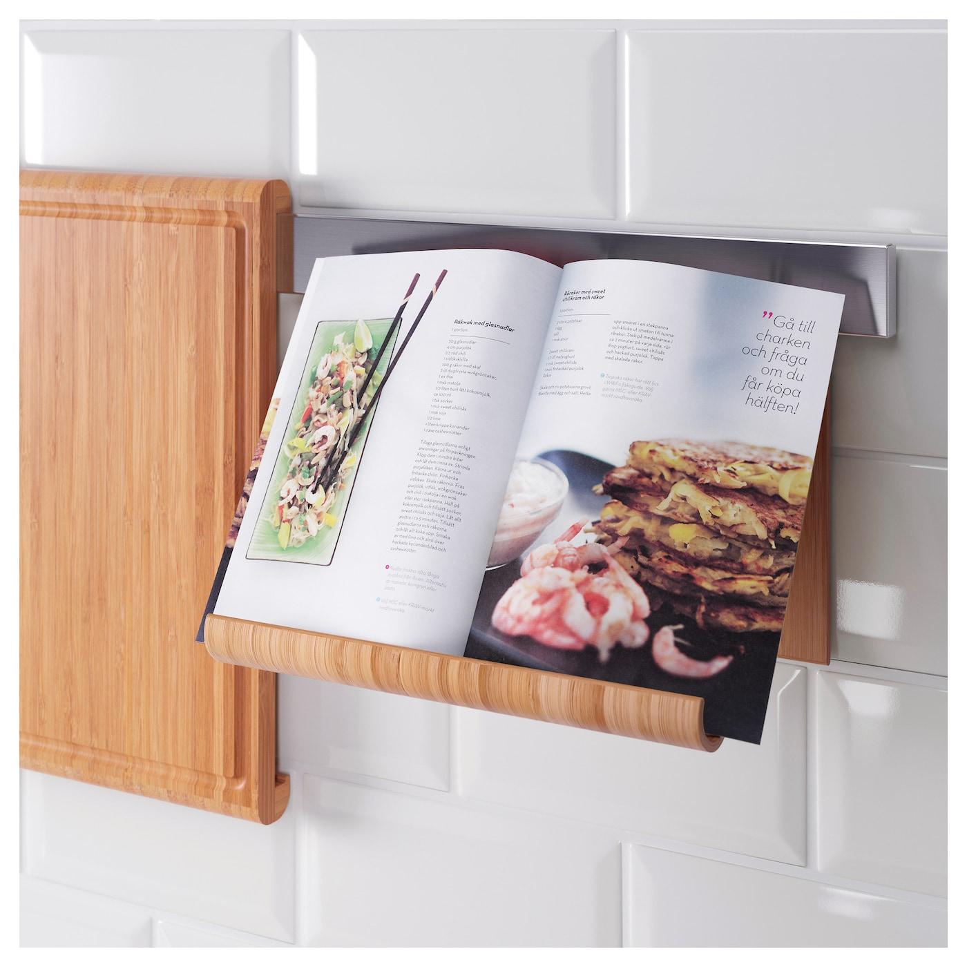 Rimforsa standaard voor tablet bamboe 26x17 cm ikea - Porte livre de cuisine ...