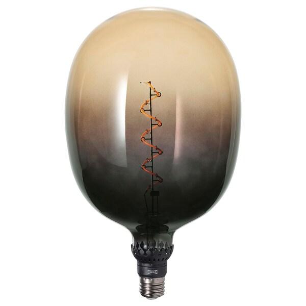 ROLLSBO Led-lamp E27 160 lumen, dimbaar buisvormig/bruinzwart helder glas, 175 mm