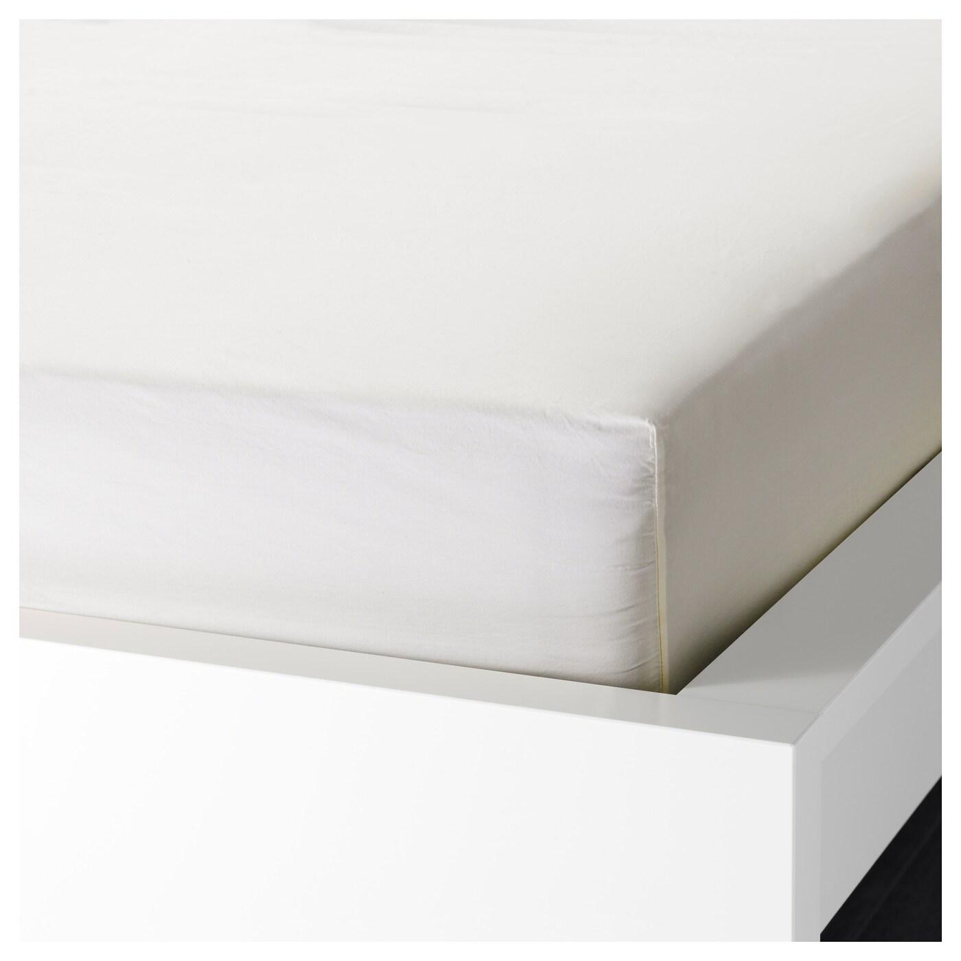 s mntuta hoeslaken wit 160x200 cm ikea. Black Bedroom Furniture Sets. Home Design Ideas