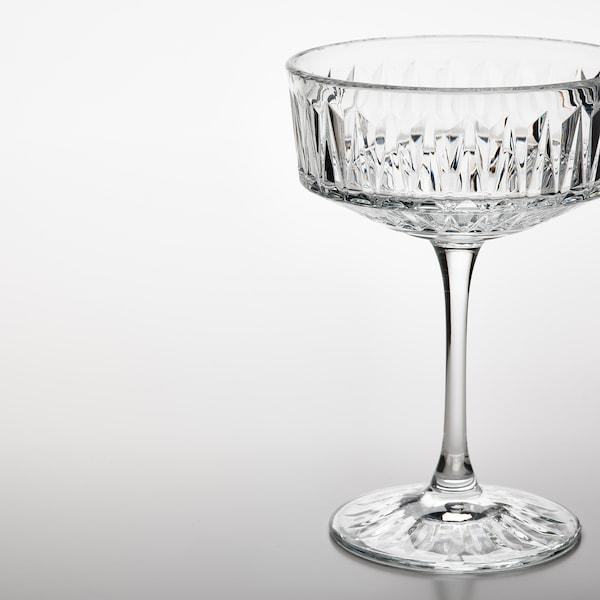 SÄLLSKAPLIG Champagnecoupe, helder glas/met een patroon, 21 cl