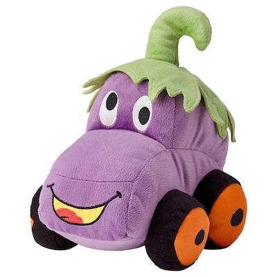 SAGOSKATT Pluchen speelgoed, Aubergine auto