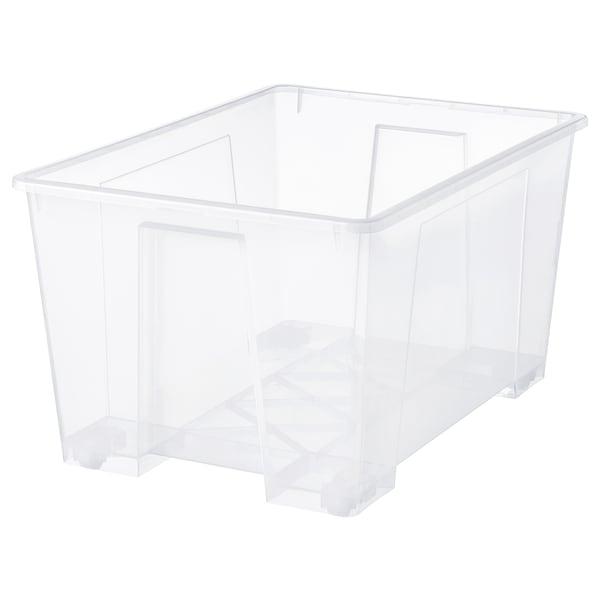 SAMLA Bak, transparant, 78x56x43 cm/130 l
