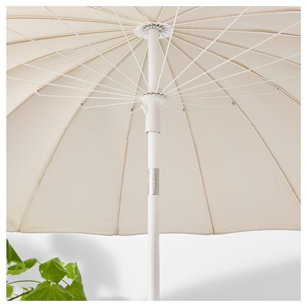 SAMSÖ Parasol, kantelbaar/beige, 200 cm