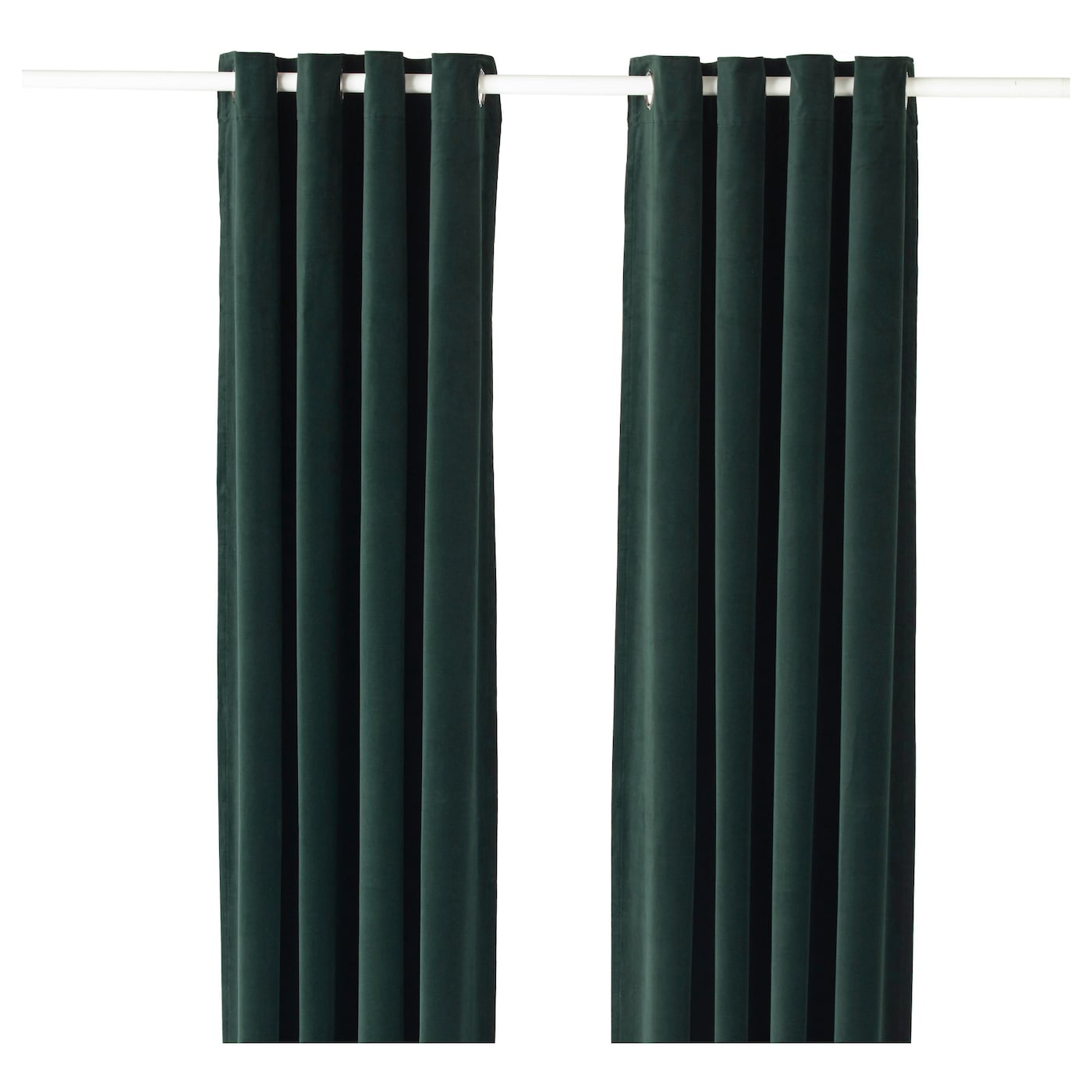 SANELA Gordijnen, 1 paar Donkergroen 140x300 cm - IKEA