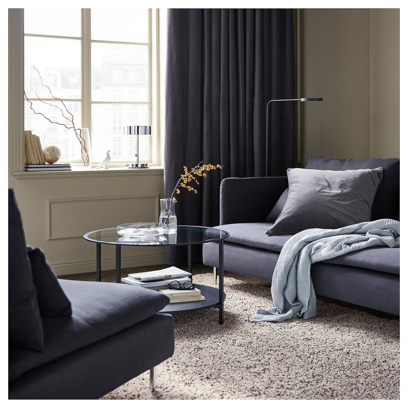 SANELA Gordijnen, 1 paar Grijs 140 x 300 cm - IKEA