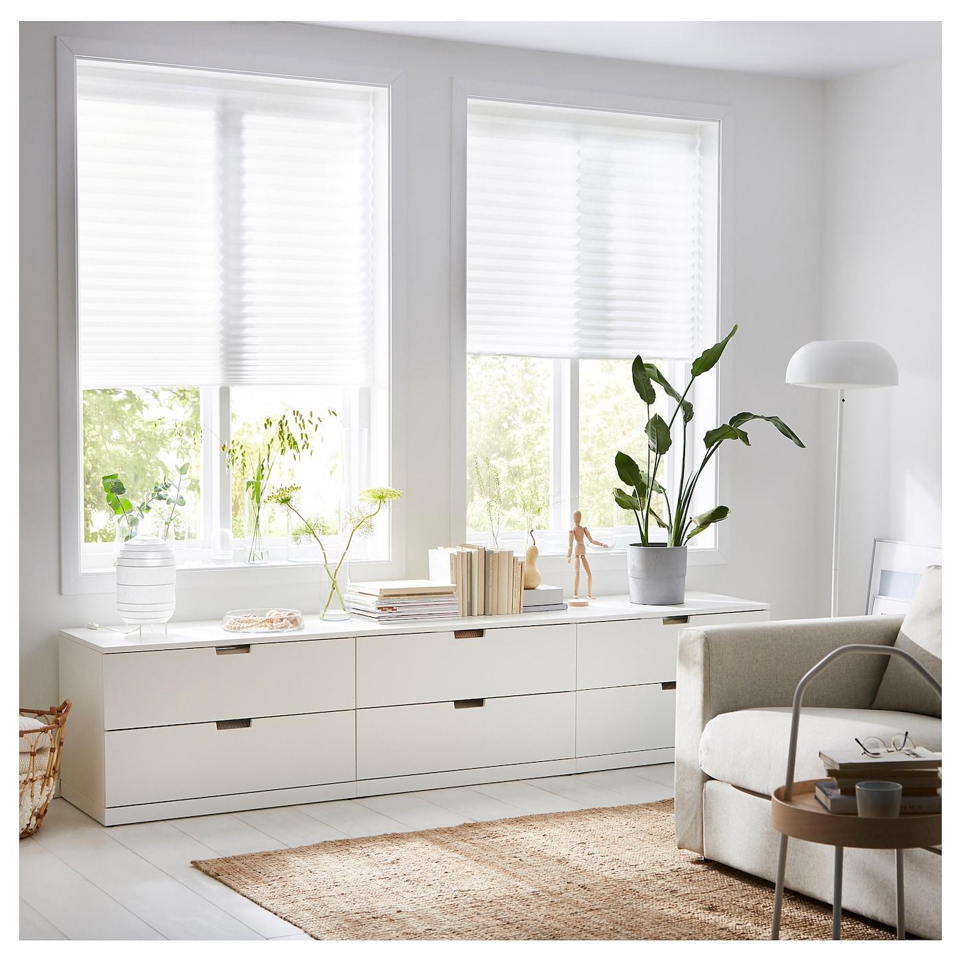 SCHOTTIS Plisségordijn Wit 90 x 190 cm - IKEA