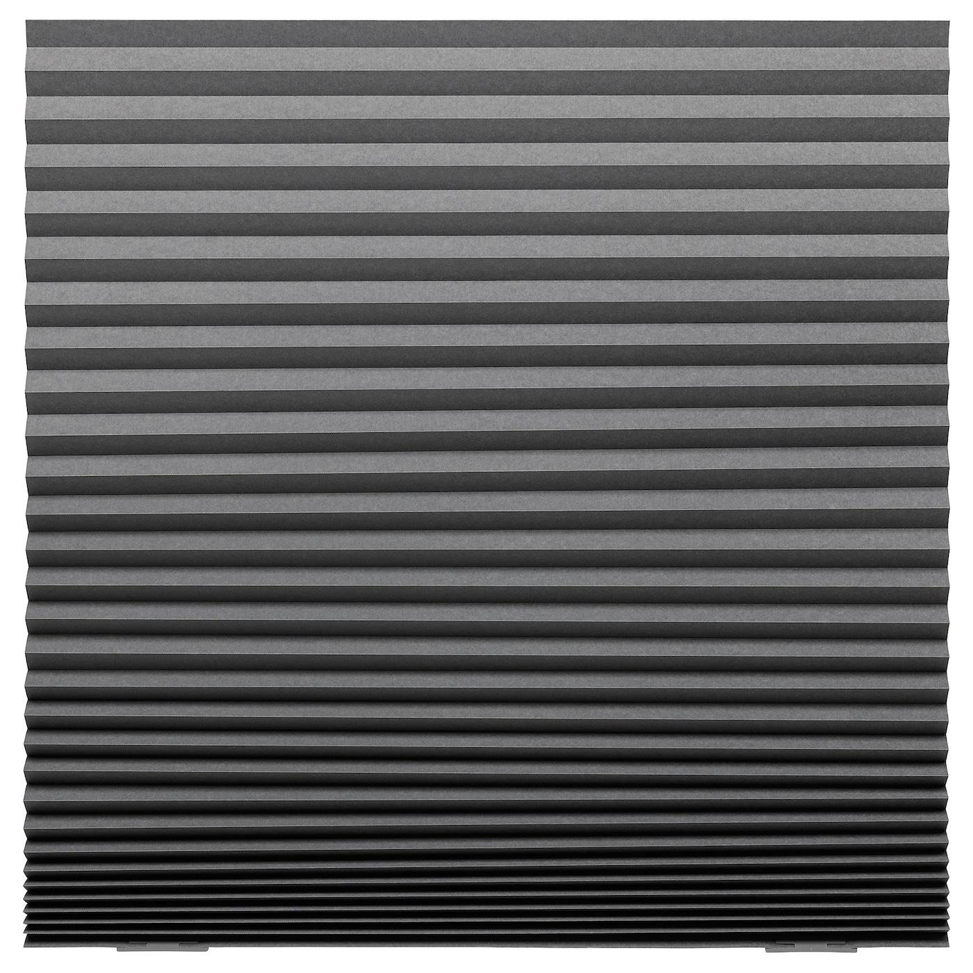 SCHOTTIS Verduisterend plisségordijn Donkergrijs 100 x 190 cm - IKEA