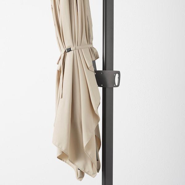 SEGLARÖ Parasol, vrijhangend, beige/kantelbaar, 330x240 cm