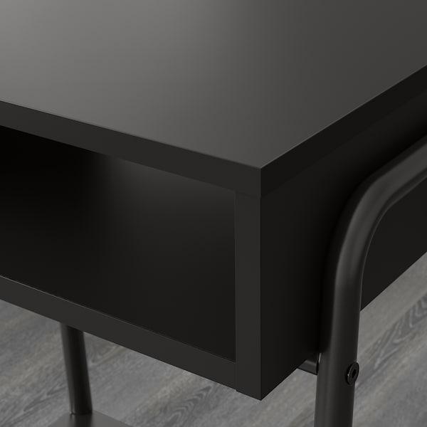 SETSKOG Nachtkastje, zwart, 45x35 cm